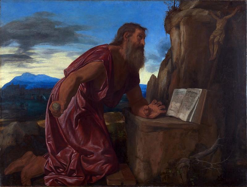 Giovanni Girolamo Savoldo - Saint Jerome. Part 3 National Gallery UK