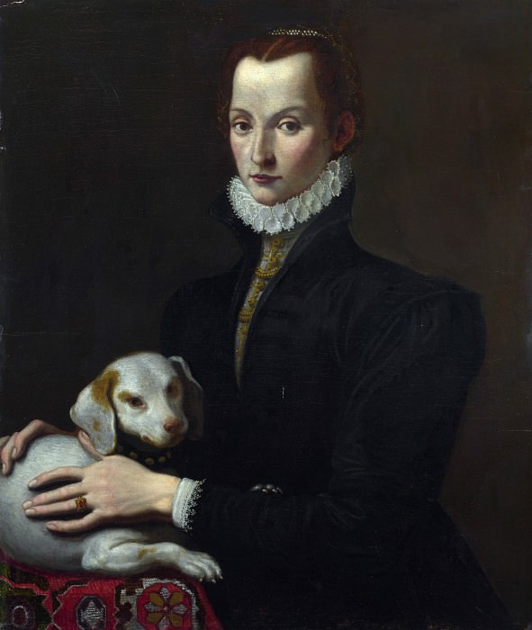 Italian - Portrait of a Lady with a Dog. Part 3 National Gallery UK