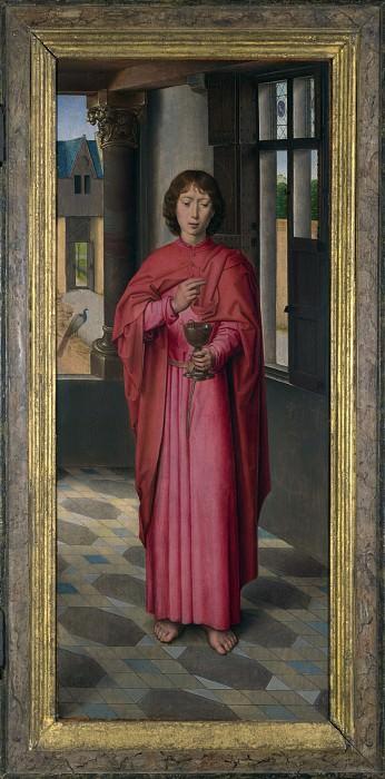Hans Memling - Saint John the Evangelist. Part 3 National Gallery UK