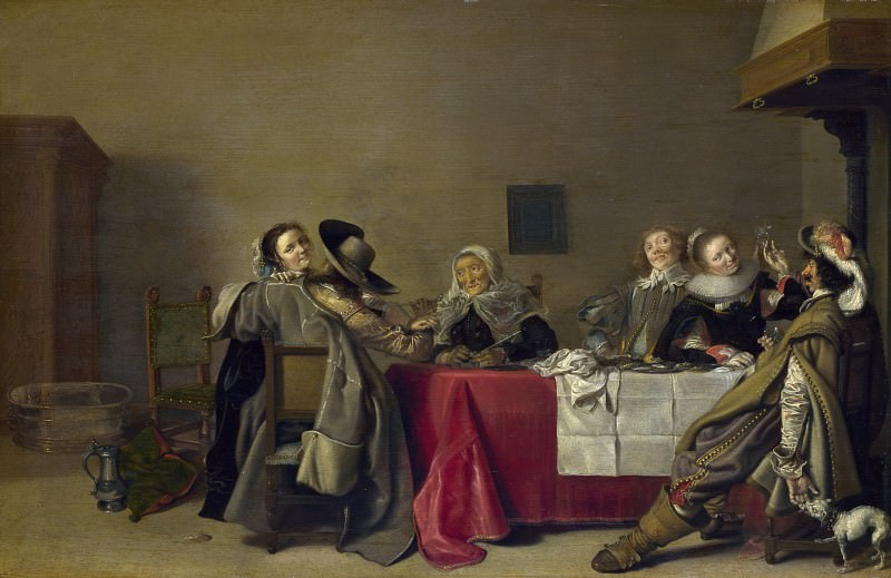 Hendrick Pot - A Merry Company at Table. Part 3 National Gallery UK