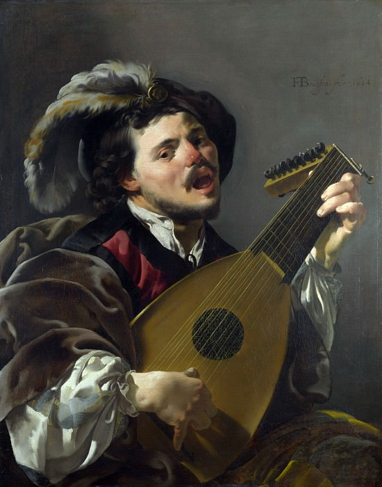 Hendrick ter Brugghen - A Man playing a Lute. Part 3 National Gallery UK