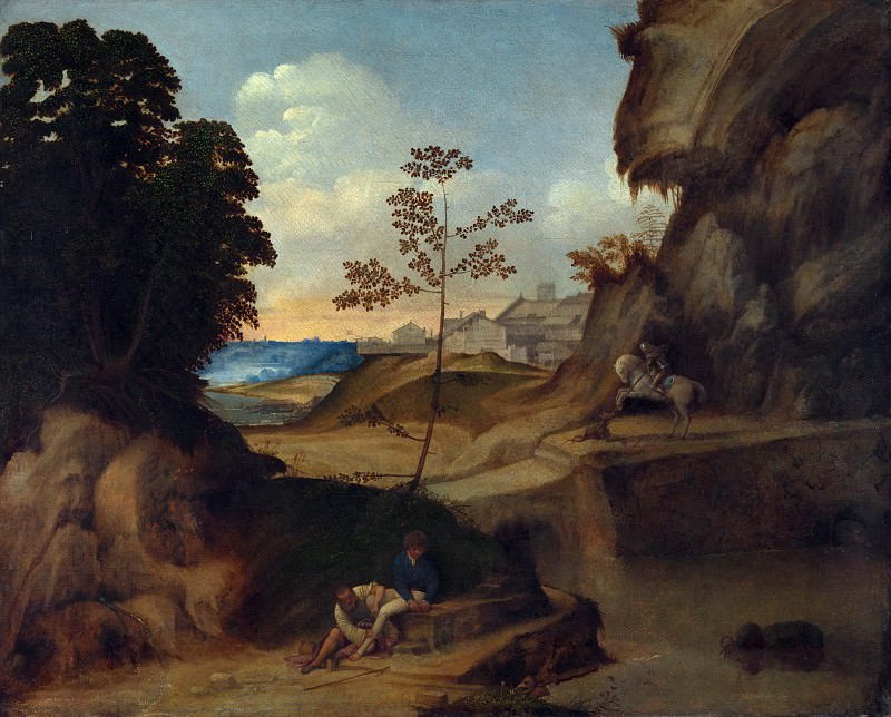 Giorgione - Il Tramonto (The Sunset). Part 3 National Gallery UK