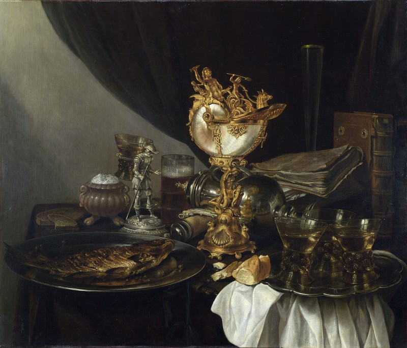 Gerrit Willemsz. Heda - Still Life with a Nautilus Cup. Part 3 National Gallery UK