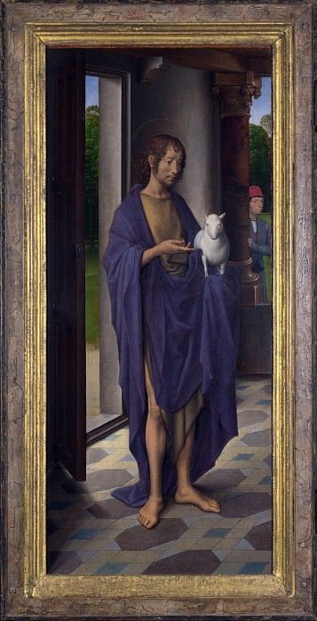 Hans Memling - Saint John the Baptist. Part 3 National Gallery UK