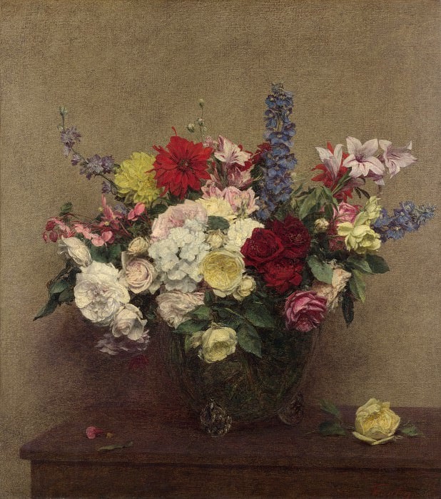 Ignace Henri-Theodore Fantin-Latour - The Rosy Wealth of June. Part 3 National Gallery UK