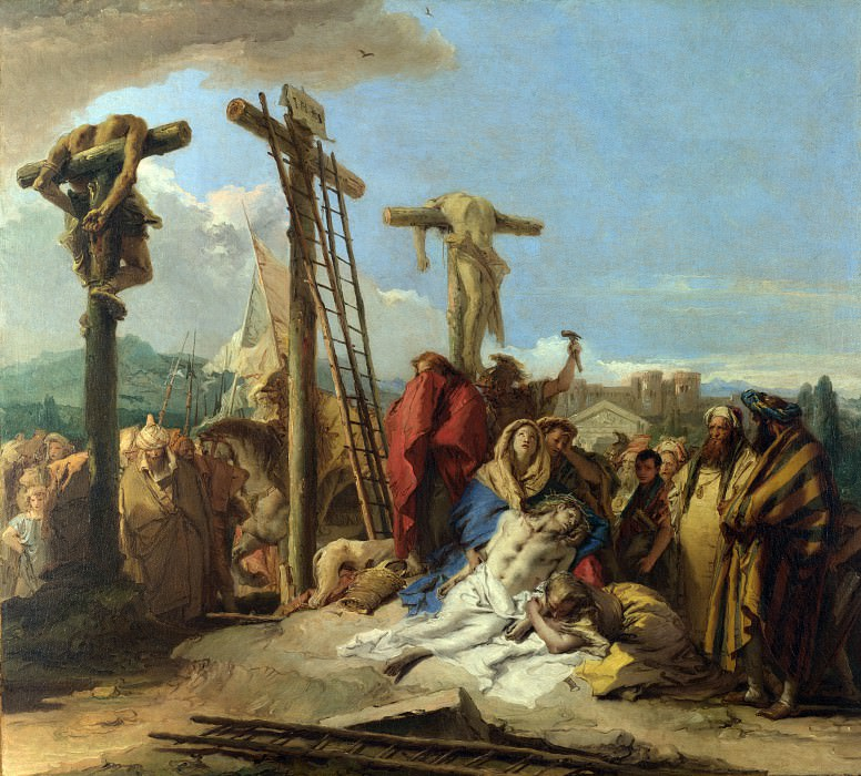 Giovanni Domenico Tiepolo - The Lamentation at the Foot of the Cross. Part 3 National Gallery UK