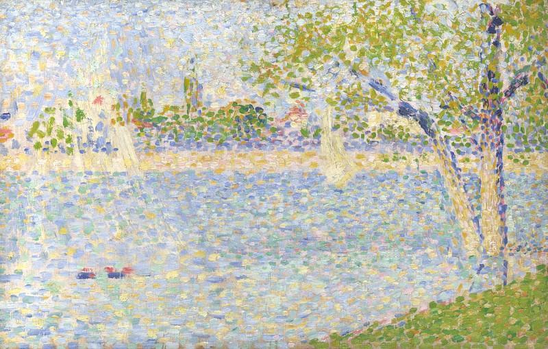 Georges Seurat - The Seine seen from La Grande Jatte. Part 3 National Gallery UK