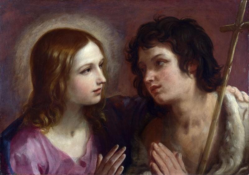 Христос, обнимающий Иоанна Крестителя. Гвидо Рени