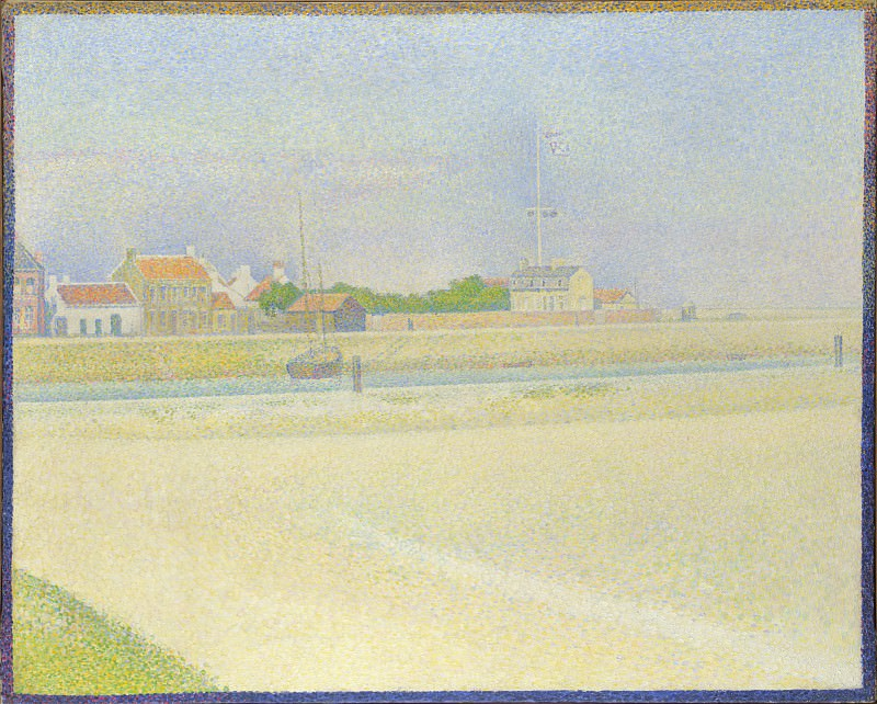 Georges Seurat - The Channel of Gravelines, Grand Fort-Philippe. Part 3 National Gallery UK