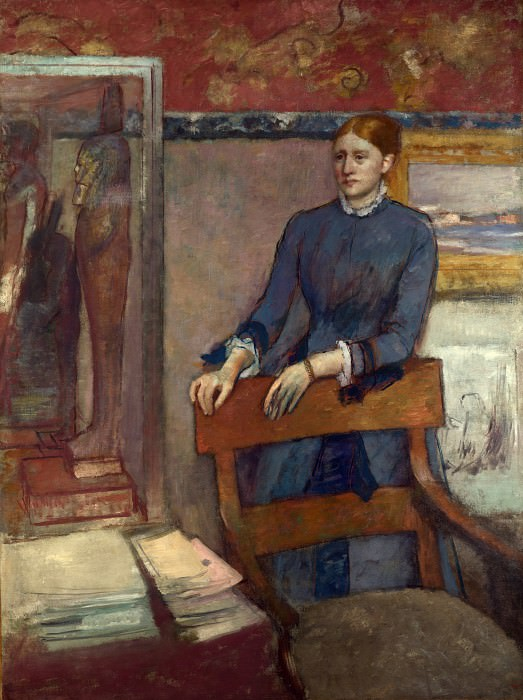 Hilaire Germain-Edgar Degas - Helene Rouart in her Fathers Study. Part 3 National Gallery UK