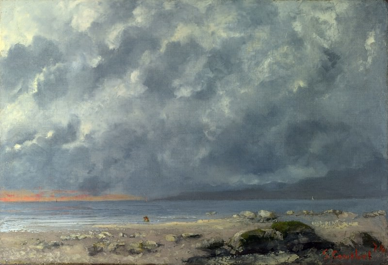 Gustave Courbet - Beach Scene. Part 3 National Gallery UK