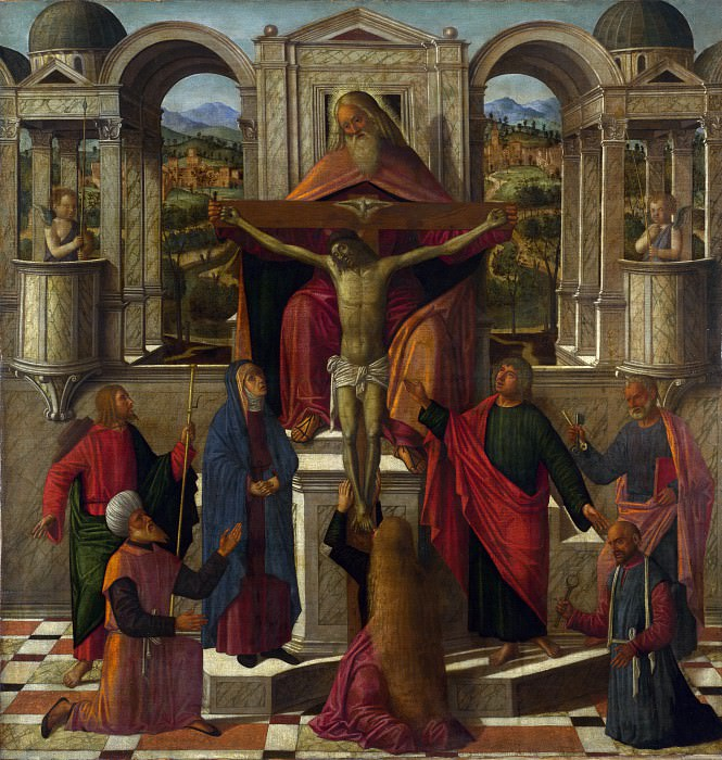 Giovanni Mansueti - Symbolic Representation of the Crucifixion. Part 3 National Gallery UK
