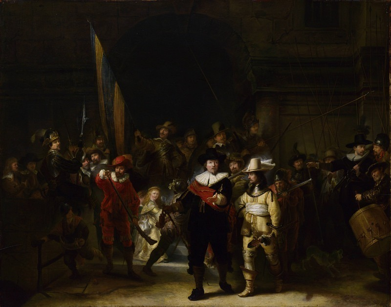 Gerrit Lundens (after Rembrandt) - The Company of Captain Banning Cocq (The Nightwatch). Part 3 National Gallery UK