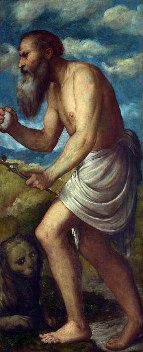 Джироламо Романино - Алтарь из церкви св Александра в Брешии - Святой Иероним. Часть 3 Национальная галерея