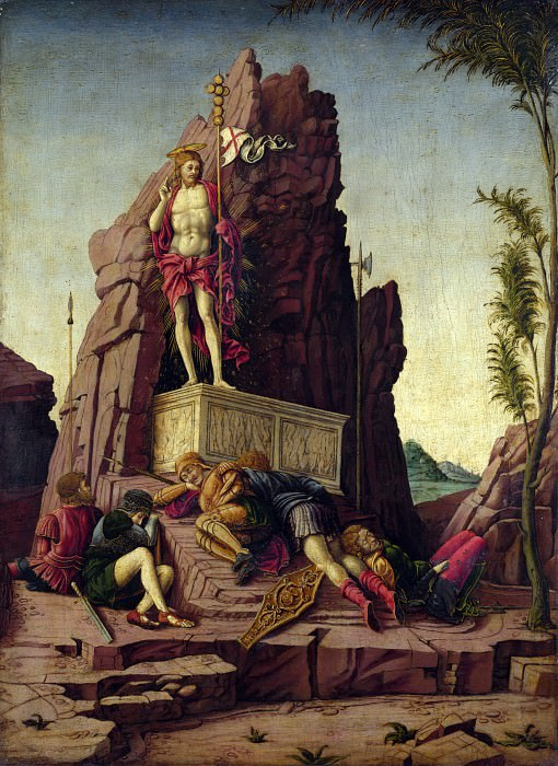 Imitator of Andrea Mantegna - The Resurrection. Part 3 National Gallery UK