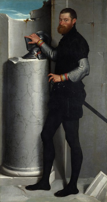 Giovanni Battista Moroni - Portrait of a Gentleman. Part 3 National Gallery UK