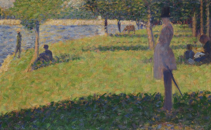 Georges Seurat - Study for La Grande Jatte. Part 3 National Gallery UK