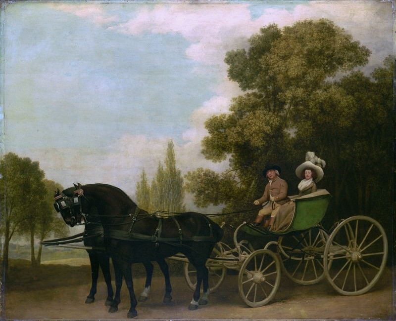 George Stubbs - A Gentleman driving a Lady in a Phaeton. Part 3 National Gallery UK