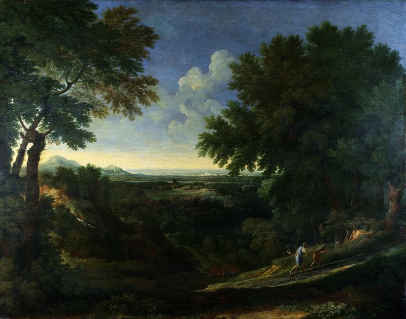 Gaspard Dughet - Landscape with Abraham and Isaac. Part 3 National Gallery UK