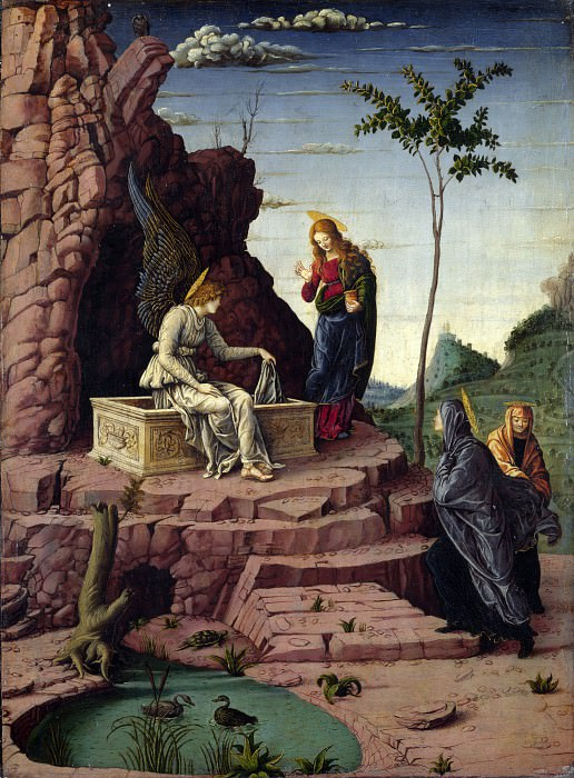 Imitator of Andrea Mantegna - The Maries at the Sepulchre. Part 3 National Gallery UK
