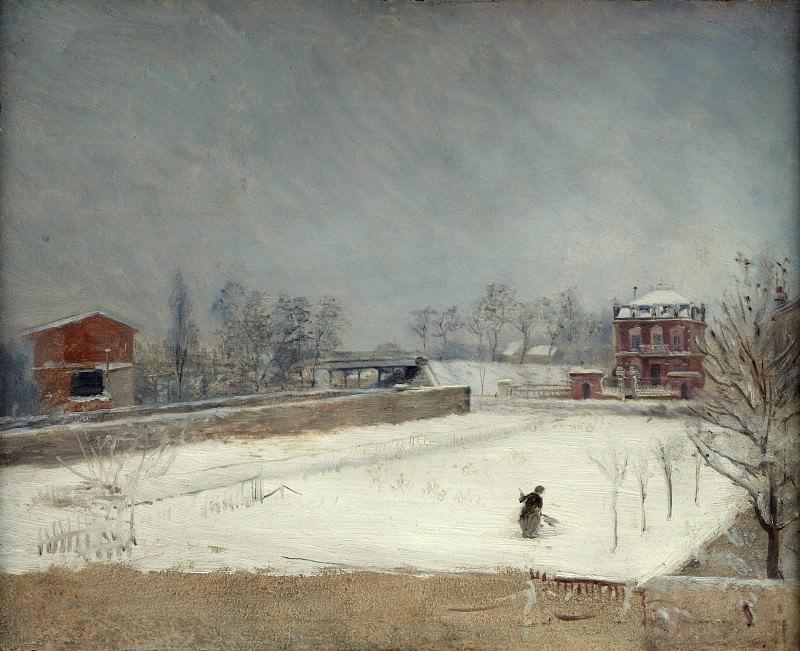Giuseppe De Nittis - Winter Landscape. Part 3 National Gallery UK