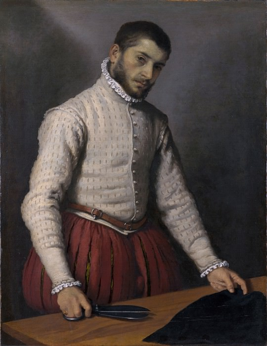 Giovanni Battista Moroni - The Tailor (Il Tagliapanni). Part 3 National Gallery UK