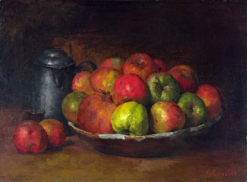 Gustave Courbet - Still Life with Apples and a Pomegranate. Part 3 National Gallery UK