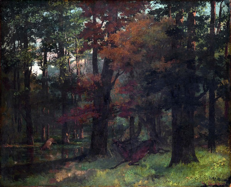 Gustave Courbet - In the Forest. Part 3 National Gallery UK