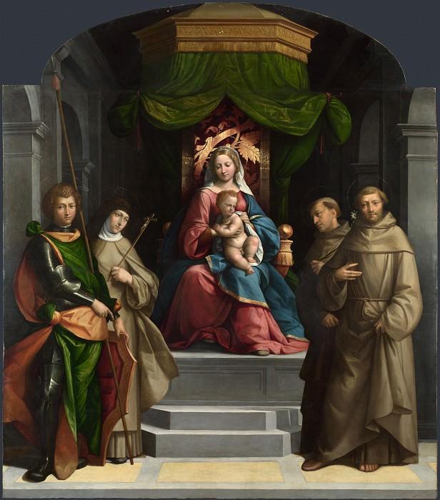 Гарофало - Мадонна с Младенцем на троне со вятыми. Часть 3 Национальная галерея