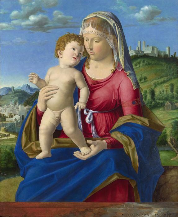 Giovanni Battista Cima da Conegliano - The Virgin and Child. Part 3 National Gallery UK