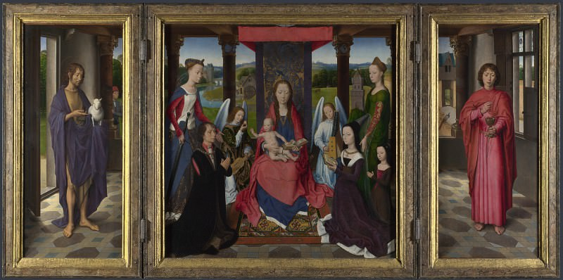 Hans Memling - The Donne Triptych. Part 3 National Gallery UK