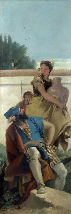 Seated Man, Woman with Jar, and Boy. Giovanni Battista Tiepolo