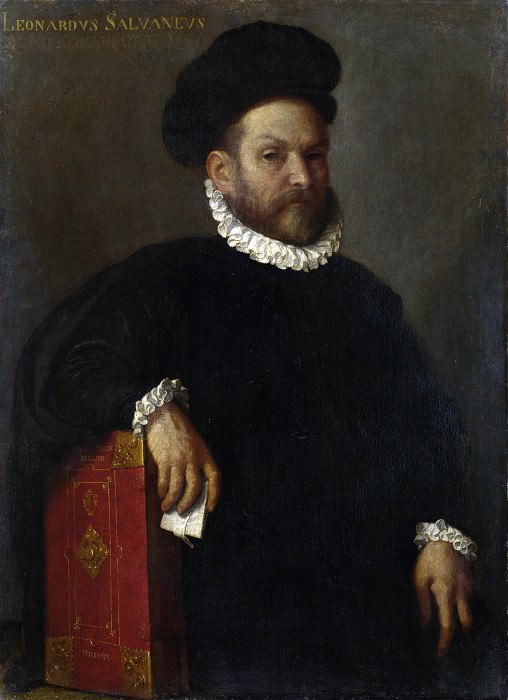 Giovanni Battista Moroni - Portrait of Leonardo Salvagno. Part 3 National Gallery UK