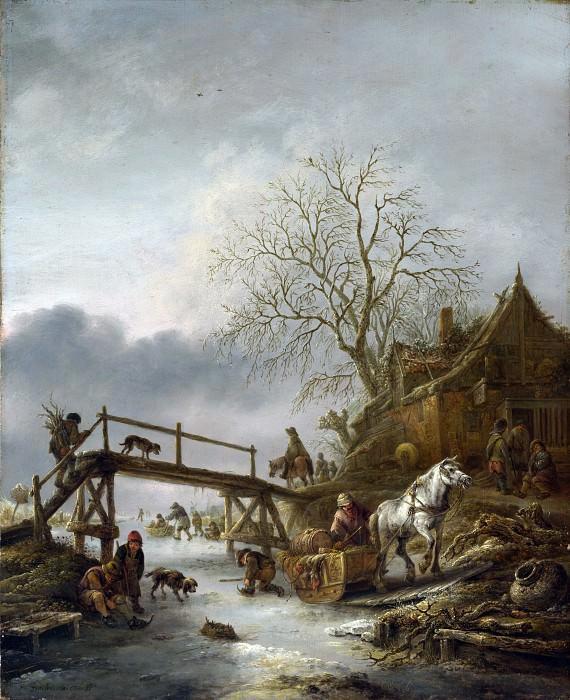 Исаак ван Остаде - Зимний пейзаж. Часть 3 Национальная галерея