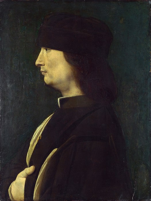 Giovanni Antonio Boltraffio - A Man in Profile. Part 3 National Gallery UK