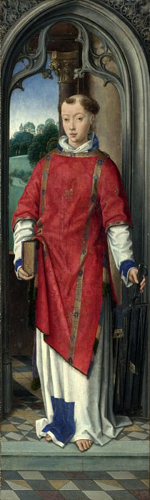 Hans Memling - Saint Lawrence. Part 3 National Gallery UK