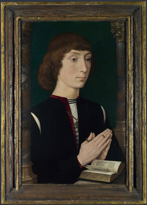 Hans Memling - A Young Man at Prayer. Part 3 National Gallery UK