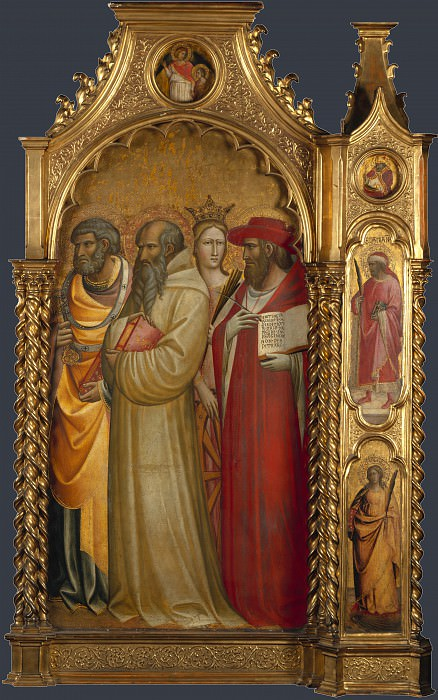 Giovanni dal Ponte - Saints Peter, Romuald, Catherine and Jerome. Part 3 National Gallery UK