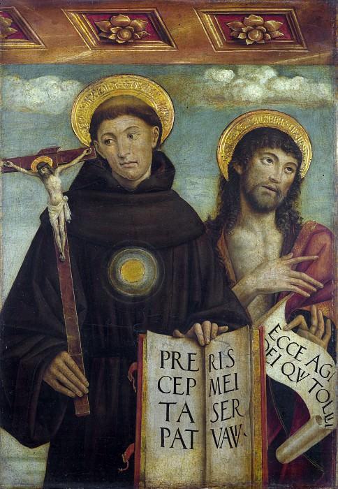 Giovanni Martino Spanzotti - Saints Nicholas of Tolentino and John the Baptist. Part 3 National Gallery UK