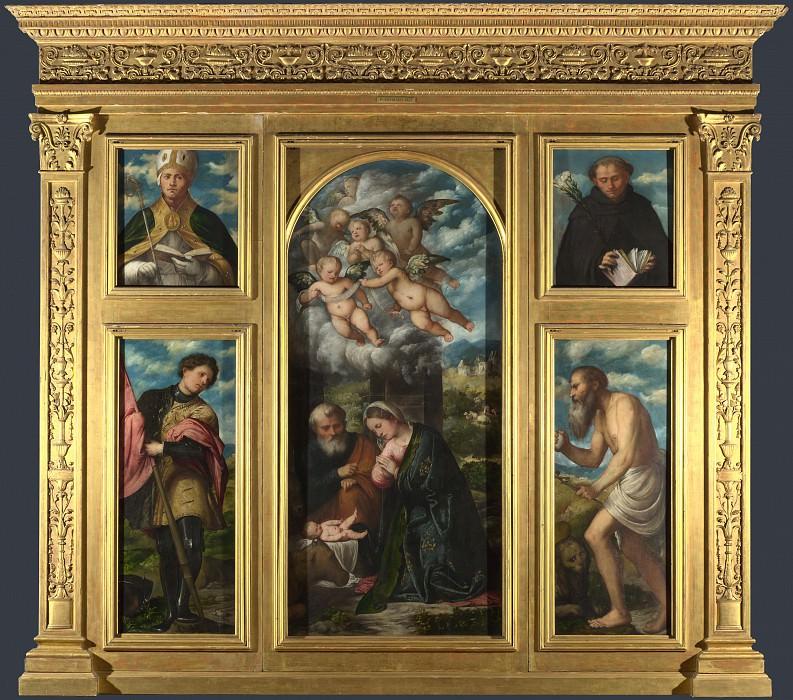 Джироламо Романино - Алтарь из церкви св Александра в Брешии. Часть 3 Национальная галерея
