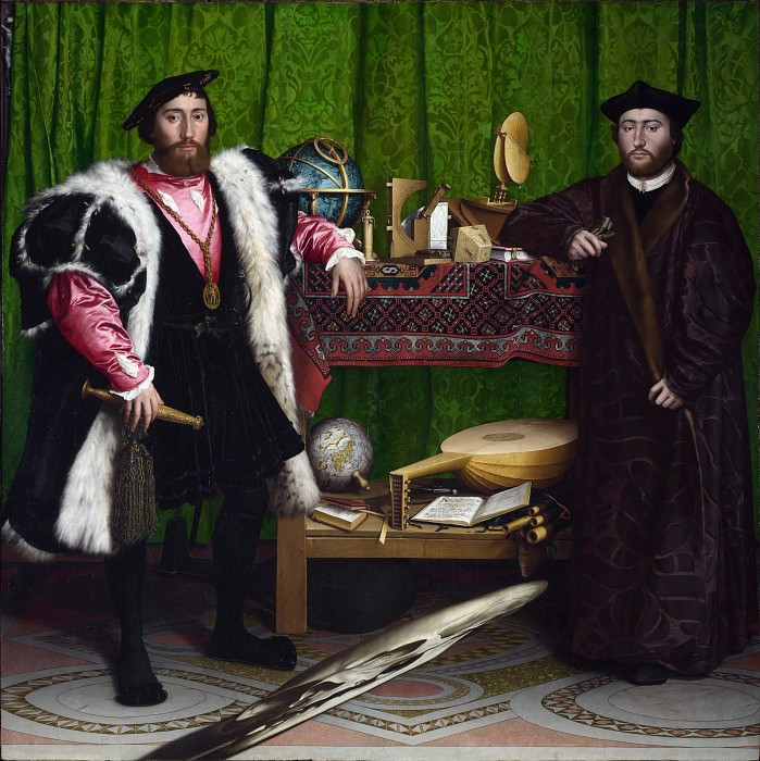 Hans Holbein the Younger - The Ambassadors. Part 3 National Gallery UK