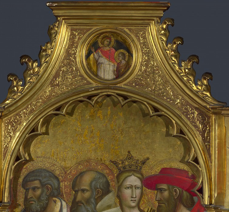 Giovanni dal Ponte - Saints Raphael and Tobias - Roundel above Right Panel. Part 3 National Gallery UK