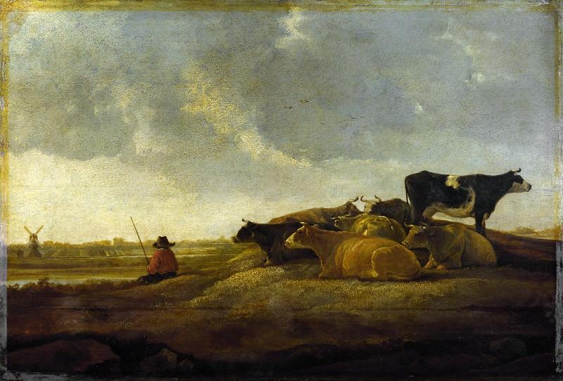 Альберт Кейп (имитатор) - Пастух с семью коровами на берегу. Часть 3 Национальная галерея