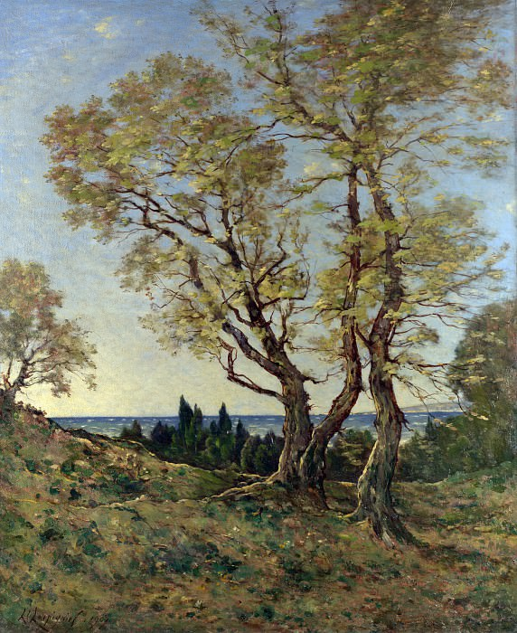 Henri-Joseph Harpignies - Olive Trees at Menton. Part 3 National Gallery UK