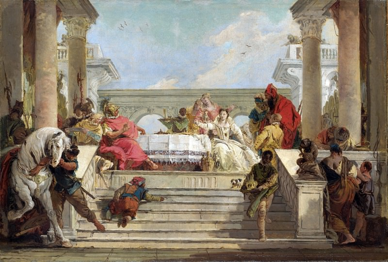 Giovanni Battista Tiepolo - The Banquet of Cleopatra. Part 3 National Gallery UK
