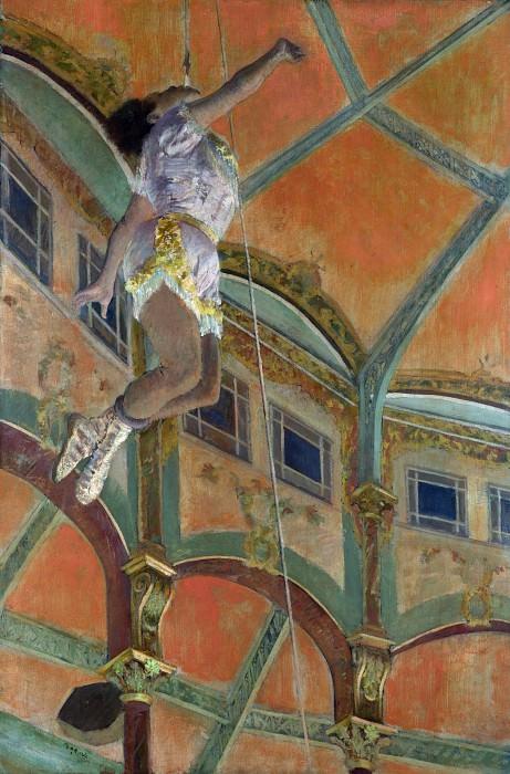 Hilaire Germain-Edgar Degas - Miss La La at the Cirque Fernando. Part 3 National Gallery UK