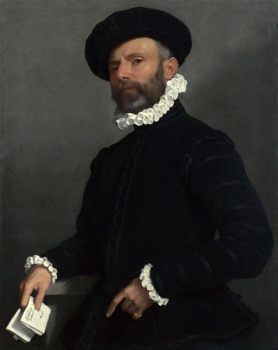 Giovanni Battista Moroni - Portrait of a Man holding a Letter (LAvvocato). Part 3 National Gallery UK