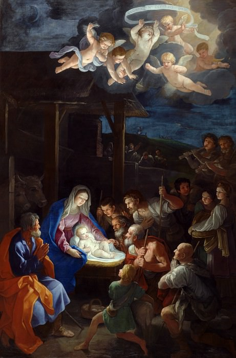 Guido Reni - The Adoration of the Shepherds. Part 3 National Gallery UK