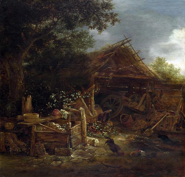 Isack van Ostade - A Farmyard. Part 3 National Gallery UK
