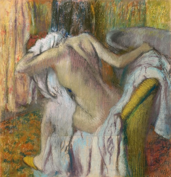 Hilaire Germain-Edgar Degas - After the Bath, Woman drying herself. Part 3 National Gallery UK